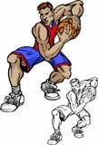 Desenhos animados do jogador de basquetebol Fotografia de Stock