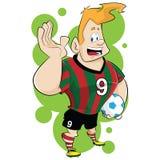 Desenhos animados do jogador de futebol Fotos de Stock