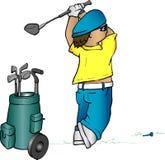 Desenhos animados do jogador de golfe ilustração do vetor