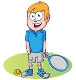 Desenhos animados do jogador de tênis Fotografia de Stock