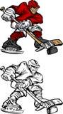 Desenhos animados do jogador do hóquei Imagens de Stock