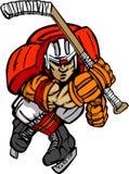Desenhos animados do jogador do hóquei Fotografia de Stock Royalty Free