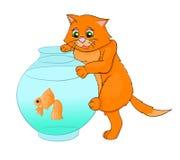 Desenhos animados do Kat Fotografia de Stock