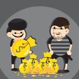 Desenhos animados do ladrão Imagem de Stock