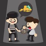 Desenhos animados do ladrão Fotos de Stock