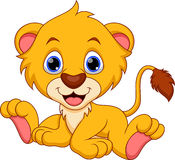 Desenhos animados do leão ilustração do vetor