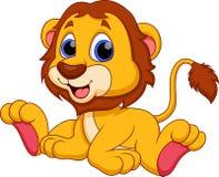 Desenhos animados do leão ilustração royalty free