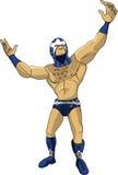 Desenhos animados do lutador da faísca engraçados Foto de Stock