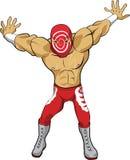 Desenhos animados do lutador do furacão engraçados Fotos de Stock Royalty Free