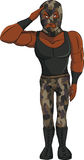 Desenhos animados do lutador do soldado Foto de Stock Royalty Free