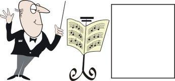 Desenhos animados do maestro Imagem de Stock Royalty Free