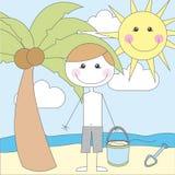 Desenhos animados do menino Foto de Stock Royalty Free