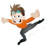 Desenhos animados do menino do bailado ilustração stock