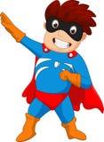 Desenhos animados do menino do super-herói Fotografia de Stock Royalty Free
