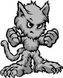 Desenhos animados do monstro de Halloween do homem-lobo foto de stock royalty free