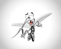 Desenhos animados do mosquito Ilustração do Vetor