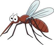 Desenhos animados do mosquito Fotografia de Stock