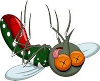 Desenhos animados do mosquito da morte Fotografia de Stock