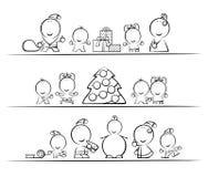 Desenhos animados do Natal Fotografia de Stock
