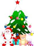 Desenhos animados do Natal da árvore ilustração royalty free