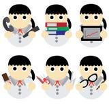 Desenhos animados do negócio das mulheres Fotos de Stock