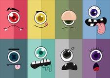 Desenhos animados 02 do olho imagens de stock