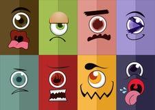 Desenhos animados do olho imagem de stock royalty free