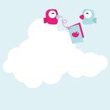 Desenhos animados do pássaro do amor Fotografia de Stock Royalty Free