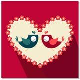 Desenhos animados do pássaro do amor Imagem de Stock