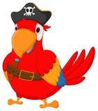 Desenhos animados do papagaio do pirata Imagens de Stock