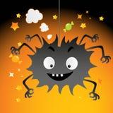 Desenhos animados do partido de Halloween ilustração royalty free