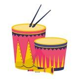 Desenhos animados do partido dos instrumentos musicais ilustração stock
