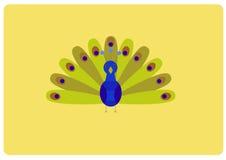 Desenhos animados do pavão em um estilo liso Foto de Stock