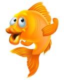 Desenhos animados do peixe dourado Fotografia de Stock Royalty Free