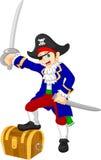 Desenhos animados do pirata do menino Imagem de Stock