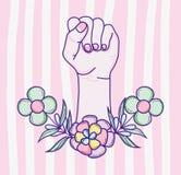 Desenhos animados do poder da mulher Foto de Stock Royalty Free