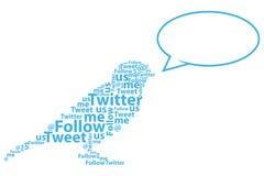 Desenhos animados do pássaro do Twitter Fotografia de Stock