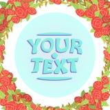 Desenhos animados do quadro das rosas Imagens de Stock