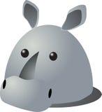 Desenhos animados do rinoceronte Imagens de Stock Royalty Free