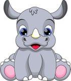 Desenhos animados do rinoceronte do bebê ilustração stock