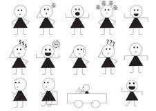Desenhos animados do sinal da maneira da mulher Foto de Stock
