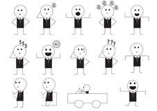 Desenhos animados do sinal da maneira do homem Imagem de Stock Royalty Free