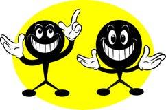 Desenhos animados do smiley Foto de Stock