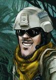 Desenhos animados do soldado das forças especiais de exército Imagens de Stock