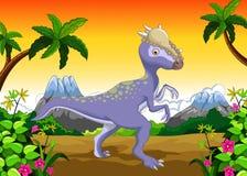 Desenhos animados do Stegosaurus do dinossauro para seu projeto Fotografia de Stock