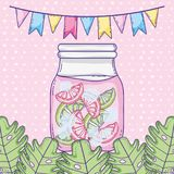 Desenhos animados do suco do verão Imagem de Stock Royalty Free