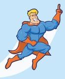 Desenhos animados do super-herói Foto de Stock