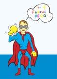 Desenhos animados do super-herói Fotos de Stock