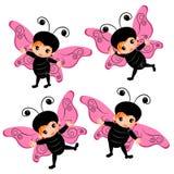 Desenhos animados do traje da borboleta Imagens de Stock