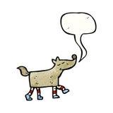 desenhos animados do traje do cão Fotos de Stock Royalty Free